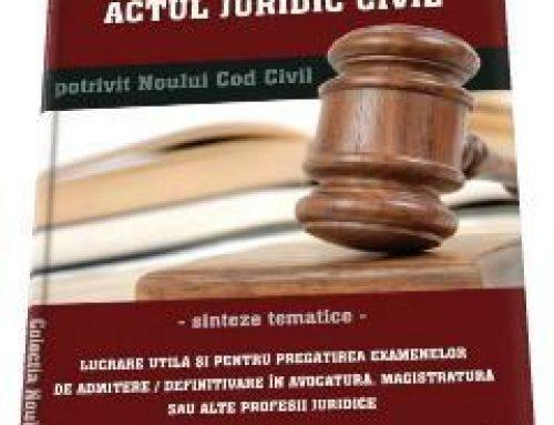 Cauza actului juridic in noul Cod civil – Avocat Florin Stiolica